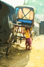 Grafisk design av foto tatt av meg i India.