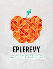 Plakat laget på Sagavoll folkehøgskole i forbindelse med revyen Eplerevy høsten 2015.